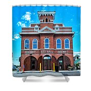 City Hall And Fire Department Shower Curtain
