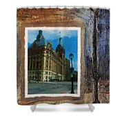 City Hall And Street Lamp Shower Curtain