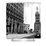 City Hall B-w Shower Curtain