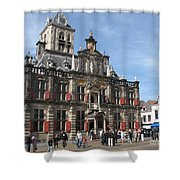City Hall - Delft - Netherlands Shower Curtain