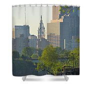 City Hall From The Schuylkill River Shower Curtain
