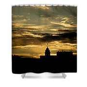 City Hall In Relief Shower Curtain