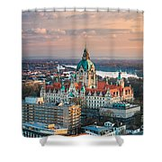 City Hall Of Hannover, Germany Shower Curtain