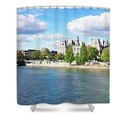 Seine River Embankment Shower Curtain