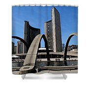 City Halll Arches Shower Curtain
