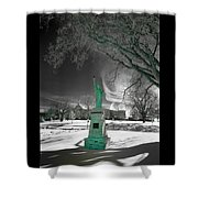 City High Statue Shower Curtain