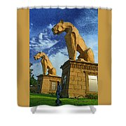City Housing Society Shower Curtain