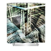 City In Motion 75 Shower Curtain