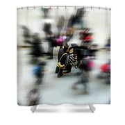 City In Movement Shower Curtain