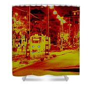 City In Red Shower Curtain