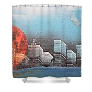City In The Day. Shower Curtain