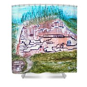 City In The Wall Shower Curtain