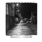 City Lane At Night Shower Curtain