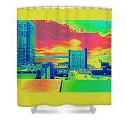 City Legos Shower Curtain