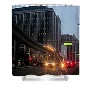 City Life Swarms Shower Curtain