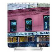 City Lights Booksellers Shower Curtain