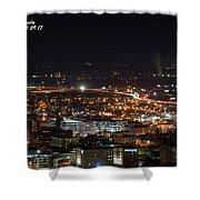 City Lights Over Bham, Al Shower Curtain
