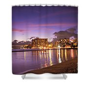 City Lights Reflections Shower Curtain