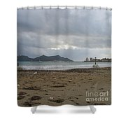 City Lost To The Sea Shower Curtain