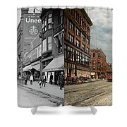 City - Lowell Ma - A Dam Good Company 1908 - Side By Side Shower Curtain