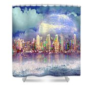 City Moon Shower Curtain