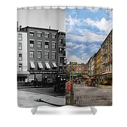 City - New York Ny - Fraunce's Tavern 1890 - Side By Side Shower Curtain