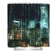 City Night Lights Shower Curtain