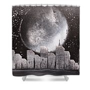 City Night Scape Shower Curtain