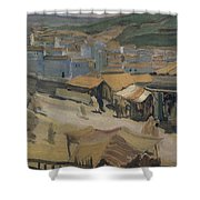 City Of Constantine Algeria 1907 Kuzma Sergeevich Petrov-vodkin Shower Curtain