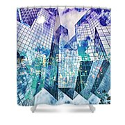 City Of Glass Shower Curtain