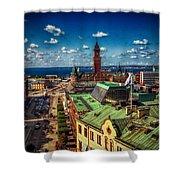 City Of Helsingborg Shower Curtain