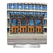 City Of Ljubljana Parliament Building View Shower Curtain