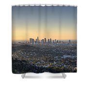 City Of Los Angeles At Dawn Shower Curtain