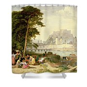 City Of Salzburg Shower Curtain by Philip Hutchins Rogers