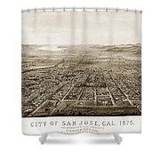 City Of San Jose County Of Santa Clara 1875 Shower Curtain