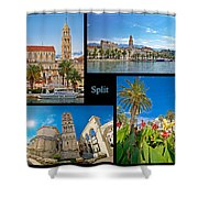 City Of Split Nature And Architecture Collage Shower Curtain