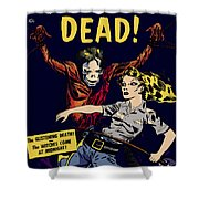 City Of The Living Dead Comic Book Poster Shower Curtain