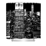 City Of The Night Shower Curtain
