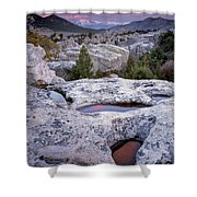 City Of The Rocks Shower Curtain