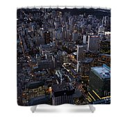 City Of Toronto Downtown After Sunset Shower Curtain