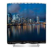 City Of Vancouver British Columbia Canada Shower Curtain