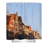 City Of Wroclaw Old Town Skyline At Sunset Shower Curtain