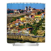 City On A Hillside Shower Curtain