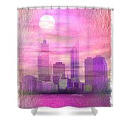 City On Night View Shower Curtain
