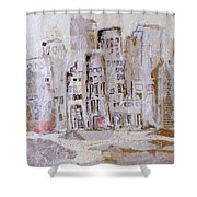City On The River  Shower Curtain