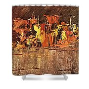 City On Water Shower Curtain
