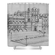 City Palace Of Udaipur  Shower Curtain
