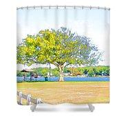 City Park 6 Shower Curtain