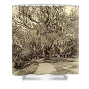 City Park New Orleans - Sepia Shower Curtain