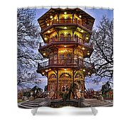 City Park Pagoda Shower Curtain